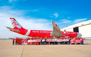 ไทยแอร์เอเชีย เอ็กซ์ ต้อนรับเครื่องใหม่ป้ายแดง แอร์บัส เอ330-300 ลำที่ 5 พร้อมให้บริการสู่ประเทศญี่ปุ่น เกาหลี และเมืองเซี่ยงไฮ้ ประเทศจีน